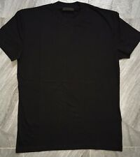 Authentic Mens Prada Classic Black Round Neck Cotton Jersey T-Shirt Size XXL