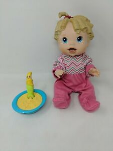 Baby Alive Talking Doll All Gone Doll Banana Spoon Cup Working Eats Interactive
