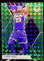 LeBron James 2019-20 Panini Mosaic Green #8 Los Angeles Lakers