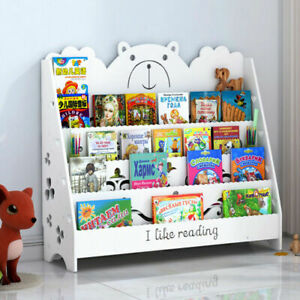 Kids Book Storage Book Shelf Bookcase Display Stand Book Organizer