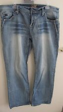 Super Cute~~Ladies Cowgirl Up Jeans Mid Rise Relaxed Boot Cut sz 34x34 CGJ5070