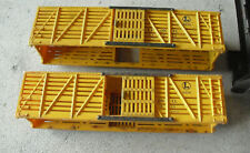 Lot of 2 Vintage Lionel O Scale 6656 Yellow Stock Car Bodies
