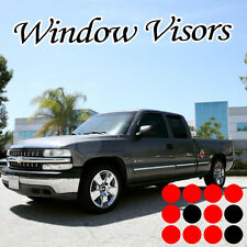 99-06 CHEVY SILVERADO EXT CAB SIDE WINDOW VISORS SHADE GUARD DEFLECTOR 4PCS