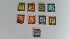 Lot 9 sellos federal de Deutsche Post aprox. 1962 - 5 7 10 15 20 25 40 80 PF, 1dm