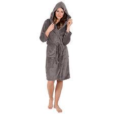 Women's Bathrobe -Hooded- Warm Super Soft Plush -Coral Fleece-THICK Heavyweight