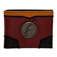 DC Comics The Flash Metal Badge Bi-fold Wallet - Boxed Justice League