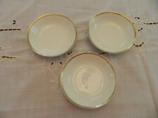 "Haviland & Co. Limoges Gold Trim (3) 5"" Fruit Bowls 7-1"