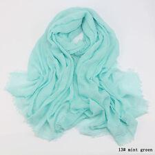 180x95cm Soft Islam Muslim Premium Viscose Maxi Crinkle Cloud Hijab Scarf Shawl 13# MINT Green
