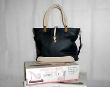 Charming Charlie Women's Designer Black & Cream Synthetic Leather Purse Handbag
