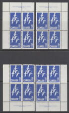 Canada #415 15¢ Canada Goose Matched Set of Plate #1 Blocks Mnh
