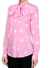 Love Moschino Camicia ROSA M = UK 8-10. EU 36-38. US 4-6 NUOVE!