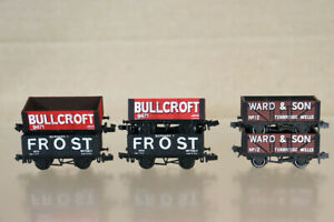 GRAHAM FARISH PECO N GAUGE RAKE of 6 FROST BULLCROFT WARD 7 PLANK WAGON nz