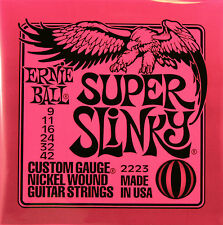 Ernie Ball Super Slinky #2223 Electric Guitar Strings Gauge 9-42  1 Set
