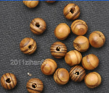 100pcs Natural Wood round Beads loose bead fit Bracelet necklace 8mm