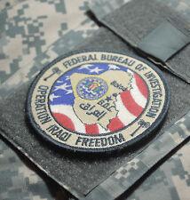 DESERT STORM WAR TROPHY SUBDUED FBI burdock SHOULDER SLEEVE SSI: FBI Balad Iraq