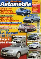 MONITEUR N°1344 MERCEDES CLK 320 CDI CLS 500 55 AMG SAAB 9-3 SPORT-HATCH V6 2004