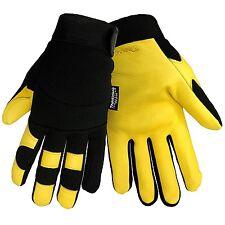 Deerskin Leather Insulated Fleece Lined Winter Work Mechanic Sports Gloves Large