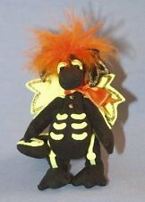 "DEB CANHAM'S ""BILLY BONES""  BLACK ULTRASUEDE ""SKELETON"" DRAGON WITH YELLOW BONES"