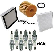 Tune Up Kit Air Cabin Oil Filters Spark Plugs For LEXUS ES350 V6 3.5L 2013-2017