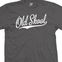 Old Skool Script Tail Shirt - School Guys Men Rule Cool Tee - All Size & Colors