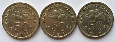 Malaysia 50 sen 1995 coin 3 pcs