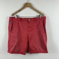 Hugo Boss Mens Shorts Size 36 Red 'Liem2-1-W' Condition: Very Faded With Stains