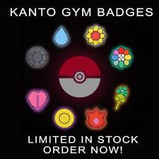 Pokemon Gym Badges Pin Set - All 8 Kanto Badges BRAND NEW