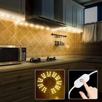60leds warm White Under Cabinet Lights Closet Kitchen Counter LED Light+dimmer