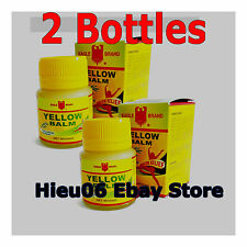 2 x Eagle Brand Yellow Balm relieve headache, giddiness, waist ache, rheumatism