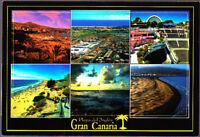 Used  Postcard Spain, Playa Del Ingles, Gran Canaria Multiview, Stamped