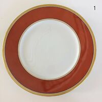 "Richard Ginori Contessa Rust Red Large Dinner Plate 10 3/8"" Retired Italy EUC"