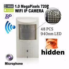 720P HD PIR IR Mini Ip Camera Wifi 940nm Led Night Vision Audio Hidden Camera