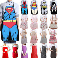 Mens Women Novelty Cooking Aprons Dinner BBQ Funny Kitchen Restauran Xmas Party.