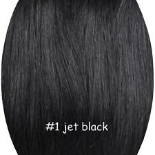 Remy Hair 100% Real Invisible Human Hair Extensions Elastic in Apply Full Head