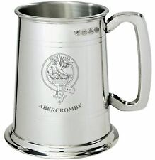 Abercromby Clan Crest Tankard 1 Pint Pewter
