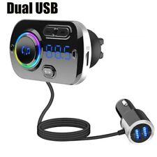 Wireless Bluetooth Handsfree Car Kit MP3 FM Transmitter Music Player Dual USB