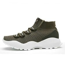 Mens Sport Running Shoes Knitting Breathable Athletic Sneakers Casual Trainers