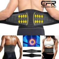Lumbar Support Lower Waist Back Belt Brace Pain Relief Sciatica Herniated Disc