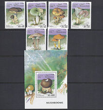 Afghanistan 1996 Setas Champignons Juego / Souvenir Hoja VF MNH