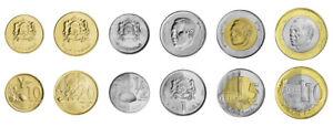 Morocco Set 6 coins 10 20 Santimat 1/2 1 5 10 Dirhams, 2011 2013, BIMETAL, UNC