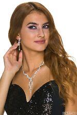 Gioielli-set_2 - Orecchini e catena-collier-prima d'argento... con STRASS FESTA MATRIMONIO