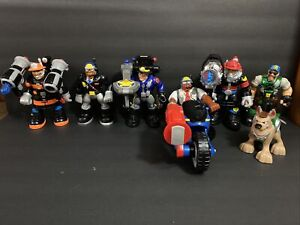 Mattel Rescue Hereos Action Figure Lot 1999-2001 Firefighter Police Patrol