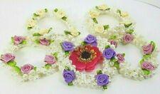 5 Pearl & Rose  Bun ring Hair elastic for Ballet Bridesmaid  ❤ Cream Pink Purple