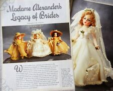 11p Costuming & History Article  - Antique Early Madame Alexander Bride Dolls
