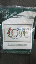 Love Stamp Design - Crewel Stitchery Kit - Elsa Williams