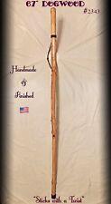 "67"" DOGWOOD Walking Stick HIKING STAFF Handmade & Finished 🇺🇸"