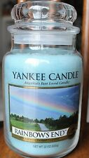 Yankee Candle RAINBOWS END Large Jar Candle ~IN HAND~HARD TO FIND~~White Label~~