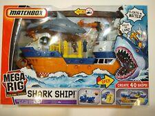 Matchbox Mega Rig Building System Shark Adventure Shark Ship!, New in Box