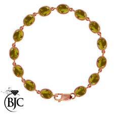 Pulseras de joyería con gemas naturales de oro rosa