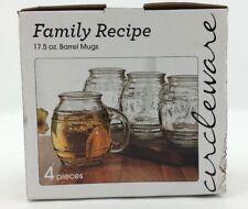 Circleware Family Recipe 17.5oz Barrel Mugs Set of 4